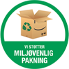 vi anvender miljøvenlig indpakning i vores webshop